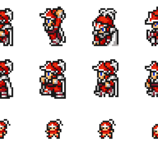 Sprites of the Onion Knight.
