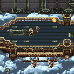Battle over the Floating Continent (SNES).