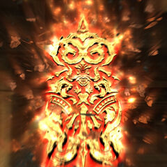 Belias's Glyph as seen after its crystal has shattered.