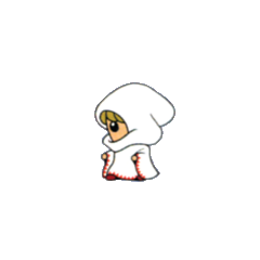 White Mage from the V-Jump strategy guide for <i>Final Fantasy</i> (WonderSwan Color).