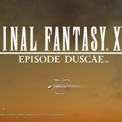 The title screen when it is dusk in the latest save.