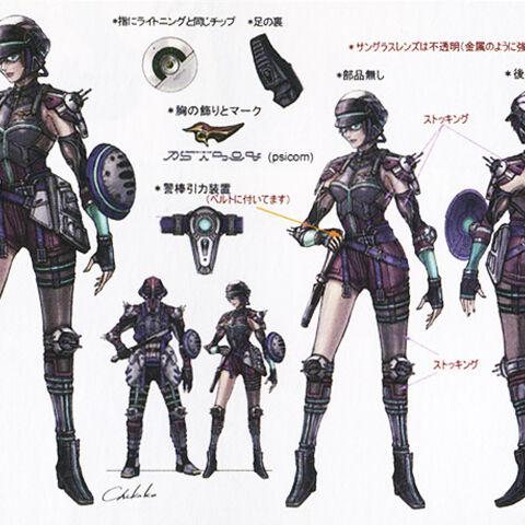 Concept artwork of the PSICOM Huntress.