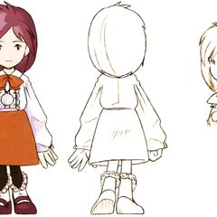 Concept art of Garnet at 9 years of age.