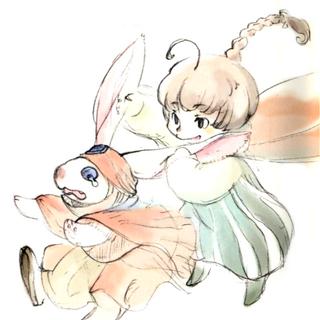 Akira Oguro artwork of Palom teasing Namingway.