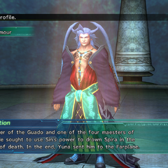 Seymour's profile in Shinra's Dossiers in <i>Final Fantasy X-2</i>.