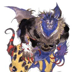 Artwork of the King of Eblan by Yoshitaka Amano.