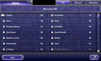 FFV iOS Item Menu