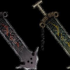 Jecht's swords in his EX Modes.