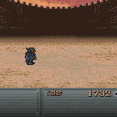 Celes fighting Shadow (GBA).