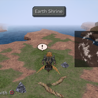 Earth Shrine on the world map.