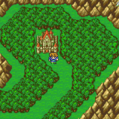 Castle Tycoon on Bartz's World Overworld (GBA).