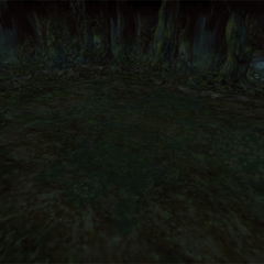 A battle background in the Evil Forest.
