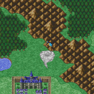 The Wyvern on the world map (PSX).