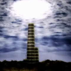 Tower of Babil in a cutscene (PSP).