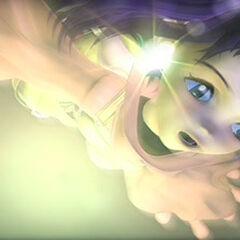Eiko jumping.