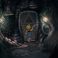 Gizamaluke's Grotto entrance.