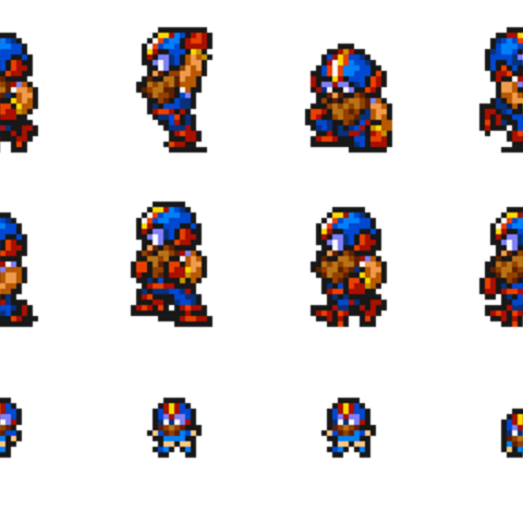 Set of Cid's sprites.