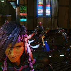 Caius leaves Noel and Serah with the Cie'th.