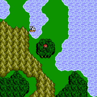 Forest of Healing on the World Map (NES).