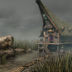 Quale's house on the Mist Continent marsh.