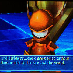 One of the Warriors of Darkness, as they appear in <i>Final Fantasy III</i> (DS).