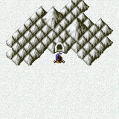 Snow Cavern on the World Map (GBA).
