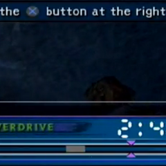 The meter and timer for Swordplay (PS2).