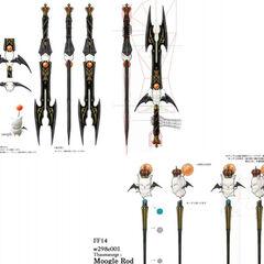 Moogle weapons artwork.