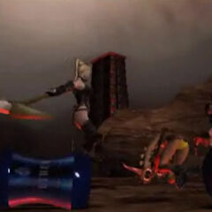 Screenshot from <i>Dead Fantasy II</i>—the bottles in the foreground are based on the <i>FFXII</i> Energy Drink Bottles.