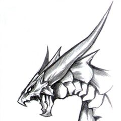 Bahamut Portrait Artwork.