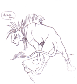 Red XIII Sketch2