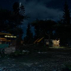 Wiz Chocobo Post at night.