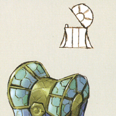 Terran treasure chest artwork from <i>The Art of Final Fantasy IX</i>.