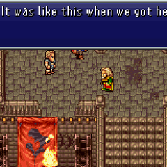 Arvis talking to the party.