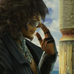 In-game shot of Al-Cid with his glasses.