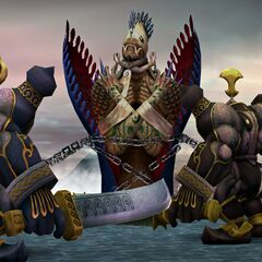 Anima summoned to battle in <i>Final Fantasy X</i>.