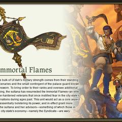 The Immortal Flames Artwork by Akihiko Yoshida.