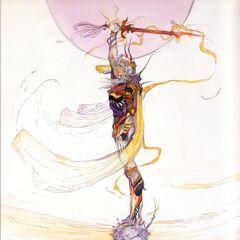 Concept art of Firion by Yoshitaka Amano.