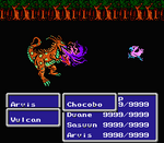 FFIII NES Chocobo Kick