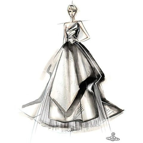 Wedding dress artwork by Vivienne Westwood.