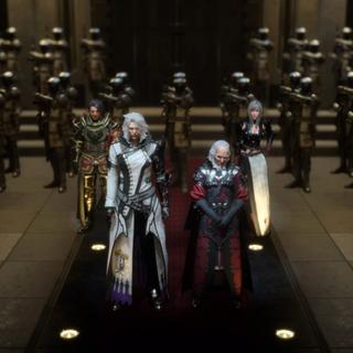 Verstael with magitek troopers and Ravus Nox Fleuret.