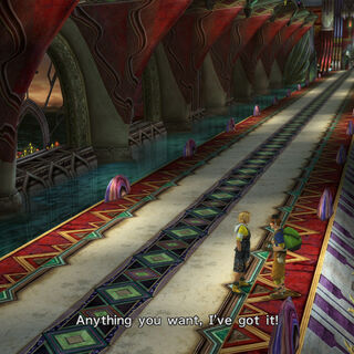 O'aka on the Highbridge in <i>Final Fantasy X</i>.