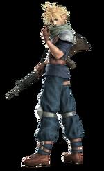 Клауд в качестве пехотинца Шинра в Crisis Core.