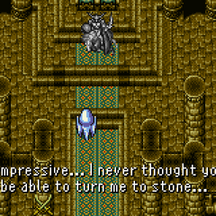 Odin being turned to stone (GBA).