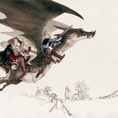 The party rides the Dragon.