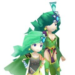 In-game models of Rydia (DS).