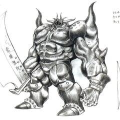 Artwork from <i>Final Fantasy VII</i>.