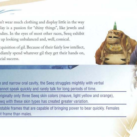 Seeq in the <i>Final Fantasy XII</i> Official Strategy Guide Book.
