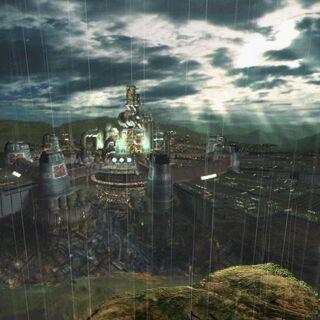 Scene of Midgar as seen in the original <i>Final Fantasy VII</i>