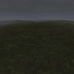 Another grass battle background on the world map, under the influence of Mist.